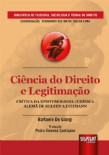 Capa do livro: Ciência do Direito e Legitimação, Raffaele De Giorgi - Tradução: Pedro Jimenez Cantisano