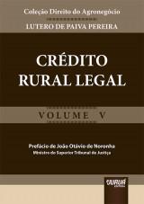Capa do livro: Crédito Rural Legal, Lutero de Paiva Pereira