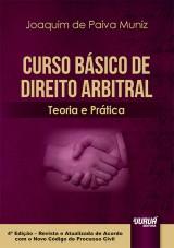 Capa do livro: Curso Básico de Direito Arbitral, Joaquim de Paiva Muniz