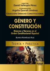 Capa do livro: Género y Constitución - Mujeres y Varones en el Orden Constitucional Español, Blanca Rodríguez Ruiz