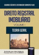 Capa do livro: Direito Registral Imobiliário - Volume I, Eduardo Sócrates Castanheira Sarmento Filho