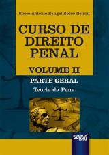Capa do livro: Curso de Direito Penal - Volume II, Rocco Antonio Rangel Rosso Nelson