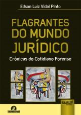Capa do livro: Flagrantes do Mundo Jurídico, Edson Luiz Vidal Pinto