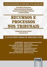 Capa do livro: Recursos e Processos nos Tribunais, Organizador: Vanderlei Garcia Junior