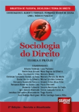 Capa do livro: Sociologia do Direito - Teoria e Práxis, Coordenadores: Alberto Febbrajo, Fernando Rister de Sousa Lima e Márcio Pugliesi