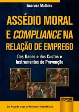 Capa do livro: Assédio Moral e Compliance na Relação de Emprego, Anaruez Mathies