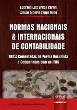 Capa do livro: Normas Nacionais e Internacionais de Contabilidade, Everson Luiz Breda Carlin e Wilson Alberto Zappa Hoog