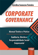 Capa do livro: Corporate Governance, Carolina Iwancow Ferreira