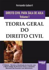 Capa do livro: Direito Civil para Sala de Aula - Volume 1, Fernando Gaburri