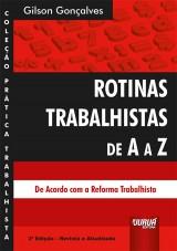 Capa do livro: Rotinas Trabalhistas de A a Z, Gilson Gonçalves