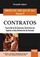 Capa do livro: Direito Civil para Sala de Aula - Volume 3 - Contratos, Fernando Gaburri