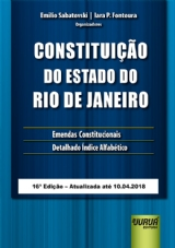 Capa do livro: Constituição do Estado do Rio de Janeiro, Organizadores: Emilio Sabatovski e Iara P. Fontoura