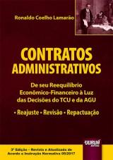 Capa do livro: Contratos Administrativos, Ronaldo Coelho Lamarão