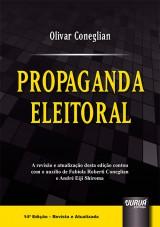 Capa do livro: Propaganda Eleitoral, Olivar Coneglian