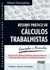 Capa do livro: Resumo Prático de Cálculos Trabalhistas, Gilson Gonçalves