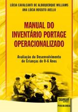 Capa do livro: Manual do Inventário Portage Operacionalizado, Lúcia Cavalcanti de Albuquerque Williams e Ana Lúcia Rossito Aiello