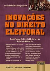 Capa do livro: Inovações no Direito Eleitoral, Antônio Veloso Peleja Júnior