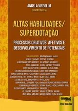Capa do livro: Altas Habilidades/Superdotação, Organizadora: Angela Virgolim