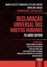 Capa do livro: Declaração Universal Dos Direitos Humanos, Coordenação e Organização: Maria Celeste Cordeiro Leite dos Santos e Marilene Araujo