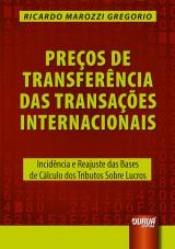 Capa do livro: Preços de Transferência das Transações Internacionais, Ricardo Marozzi Gregorio