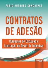 Capa do livro: Contratos de Adesão, Fábio Antunes Gonçalves