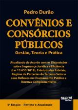 Capa do livro: Convênios e Consórcios Públicos, Pedro Durão