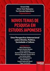 Capa do livro: Novos Temas de Pesquisa em Estudos Japoneses, Organizadores: Ernani Oda, Olivia Yumi Nakaema e Yuri Kuroda Nabeshima