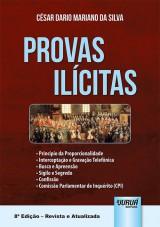 Capa do livro: Provas Ilícitas, César Dario Mariano da Silva