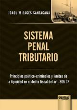 Capa do livro: Sistema Penal Tributario, Joaquim Bages Santacana