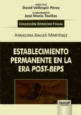 Capa do livro: Establecimiento Permanente en la Era Post-Beps, Angelina Bauzá Martínez