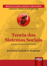 Capa do livro: Teoria dos Sistemas Sociais - Sanção Jurídica da Sociedade, Ana Carolina Cavalcanti de Albuquerque