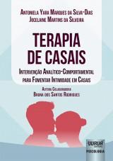 Capa do livro: Terapia de Casais, Antoniela Yara Marques da Silva-Dias e Jocelaine Martins da Silveira - Autora Colaboradora: Bruna dos Santos Rodrigues