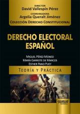 Capa do livro: Derecho Electoral Español - Teoría y Práctica, Miguel Pérez-Moneo, María Garrote de Marcos y Esther Pano Puey