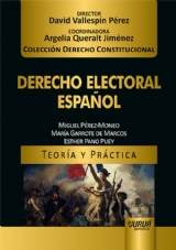 Capa do livro: Derecho Electoral Español - Teoría y Práctica, Miguel Pérez-Moneo, María Garrote de Marcos e Esther Pano Puey