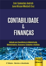 Capa do livro: Contabilidade & Finanças, Emir Guimarães Andrich e June Alisson Westarb Cruz