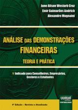Capa do livro: Análise das Demonstrações Financeiras - Teoria e Prática, June Alison Westarb Cruz, Emir Guimarães Andrich e Alexandre Mugnaini