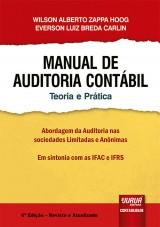 Capa do livro: Manual de Auditoria Contábil - Teoria e Prática, Wilson Alberto Zappa Hoog e Everson Luiz Breda Carlin