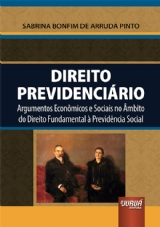 Capa do livro: Direito Previdenciário, Sabrina Bonfim de Arruda Pinto