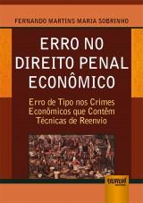 Capa do livro: Erro no Direito Penal Econômico, Fernando Martins Maria Sobrinho