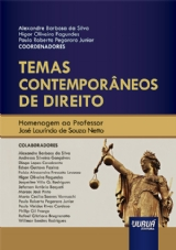 Capa do livro: Temas Contemporâneos de Direito, Coordenadores: Alexandre Barbosa da Silva, Higor Oliveira Fagundes e Paulo Roberto Pegoraro Junior