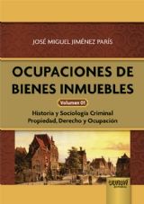 Capa do livro: Ocupaciones de Bienes Inmuebles - Volumen 01, José Miguel Jiménez París