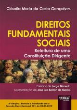 Capa do livro: Direitos Fundamentais Sociais - Releitura de uma Constituição Dirigente, Cláudia Maria da Costa Gonçalves
