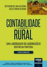 Capa do livro: Contabilidade Rural - Livro de Exercícios, Deyvison de Lima Oliveira, Gessy Dhein Oliveira
