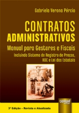 Capa do livro: Contratos Administrativos, Gabriela Verona Pércio