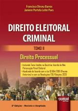 Capa do livro: Direito Eleitoral Criminal - Tomo II, Francisco Dirceu Barros e Janiere Portela Leite Paes