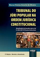 Capa do livro: Tribunal do Júri Popular na Ordem Jurídica Constitucional, Marcus Vinícius Amorim de Oliveira