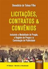 Capa do livro: Licitações, Contratos & Convênios, Benedicto de Tolosa Filho