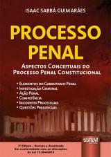 Capa do livro: Processo Penal, Isaac Sabbá Guimarães