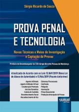 Capa do livro: Prova Penal e Tecnologia, Sérgio Ricardo de Souza