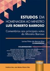 Capa do livro: Estudos em Homenagem ao Ministro Luís Roberto Barroso, Coordenadora: Larissa Pinho de Alencar Lima